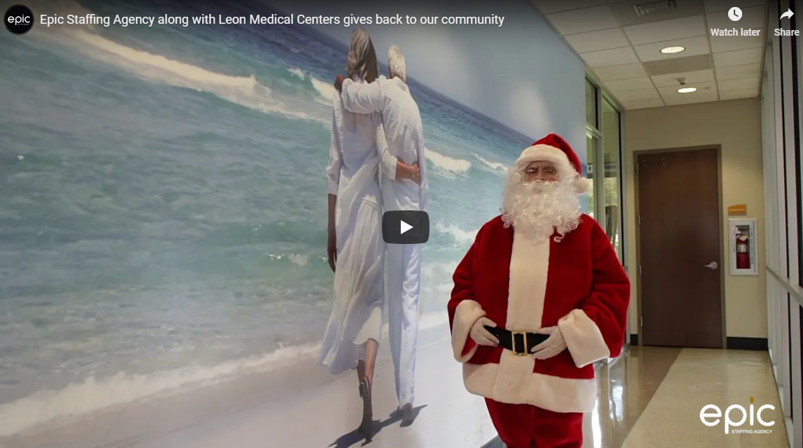 Epic Staffing Agency along with Leon Medical Centers gives back to our community